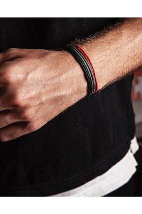 Daphne Store Kalın Ip - Siyah,kırmızı,yeşil 3lü Bileklik 0