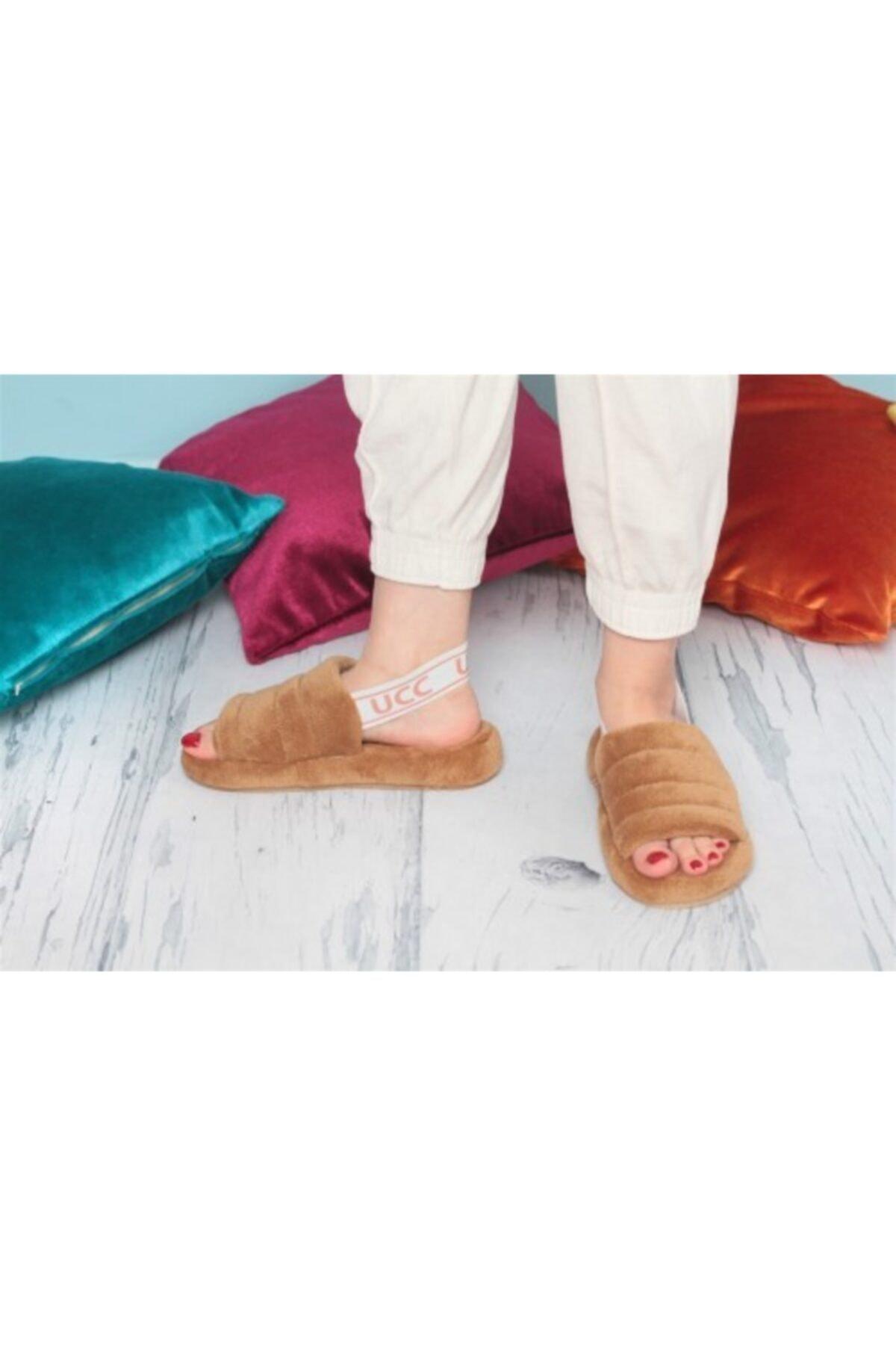 Beyf Kadın Kahverengi Önü Açık Sandalet Terlik