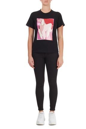 Emporio Armani Kadın Siyah T-Shirt 4