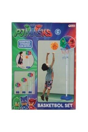 DEDE Mavi Pjmasks Ayaklı Basket Potası 0