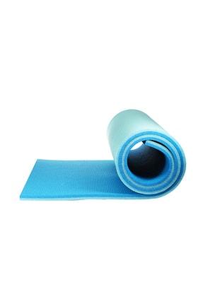 Walke 16 Mm Pilates Kamp Matı Mavi Açık Mavi Taşıma Askılı 1