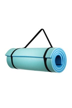 Walke 16 Mm Pilates Kamp Matı Mavi Açık Mavi Taşıma Askılı 2