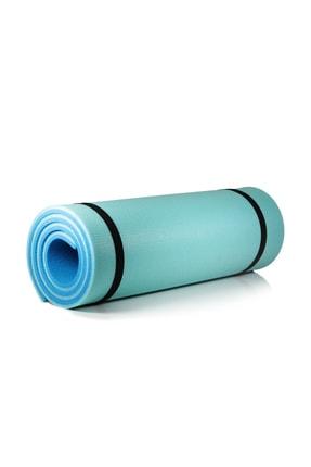 Walke 16 Mm Pilates Kamp Matı Mavi Açık Mavi Taşıma Askılı 4