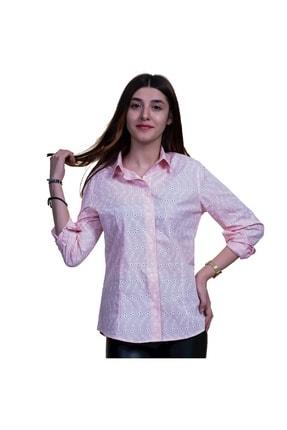 Exve Exclusive Kadın Pembe Çiçekli Gömlek 1
