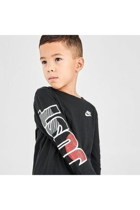 Nike Çocuk Gri Jorden Jdı Fly Ls Tee Uzun Kollu Tişört 86G978-023 4