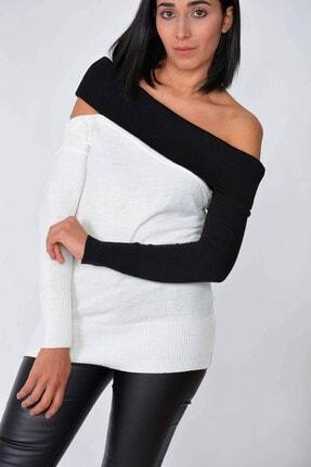 Mossta Kadın Ekru Kayık Yaka Triko Bluz 1