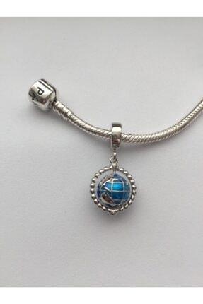 CHARM CLUB Kadın Gümüş Pandora Model Dünya Charm 1
