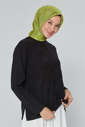 Armine Kadın Siyah Triko Kazak 9k9008 1