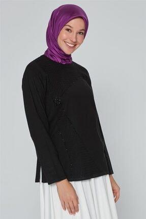 Armine Kadın Siyah  Triko Kazak 9k9007 1