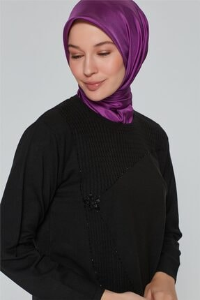 Armine Kadın Siyah  Triko Kazak 9k9007 2