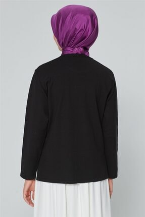 Armine Kadın Siyah  Triko Kazak 9k9007 3