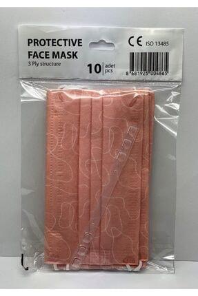 Bosmax 10 Adet Desenli Baskılı Maske 3katlı Burun Telli Meltblown Ara Katman 2