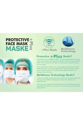 Bosmax 10 Adet Desenli Baskılı Maske 3katlı Burun Telli Meltblown Ara Katman 3