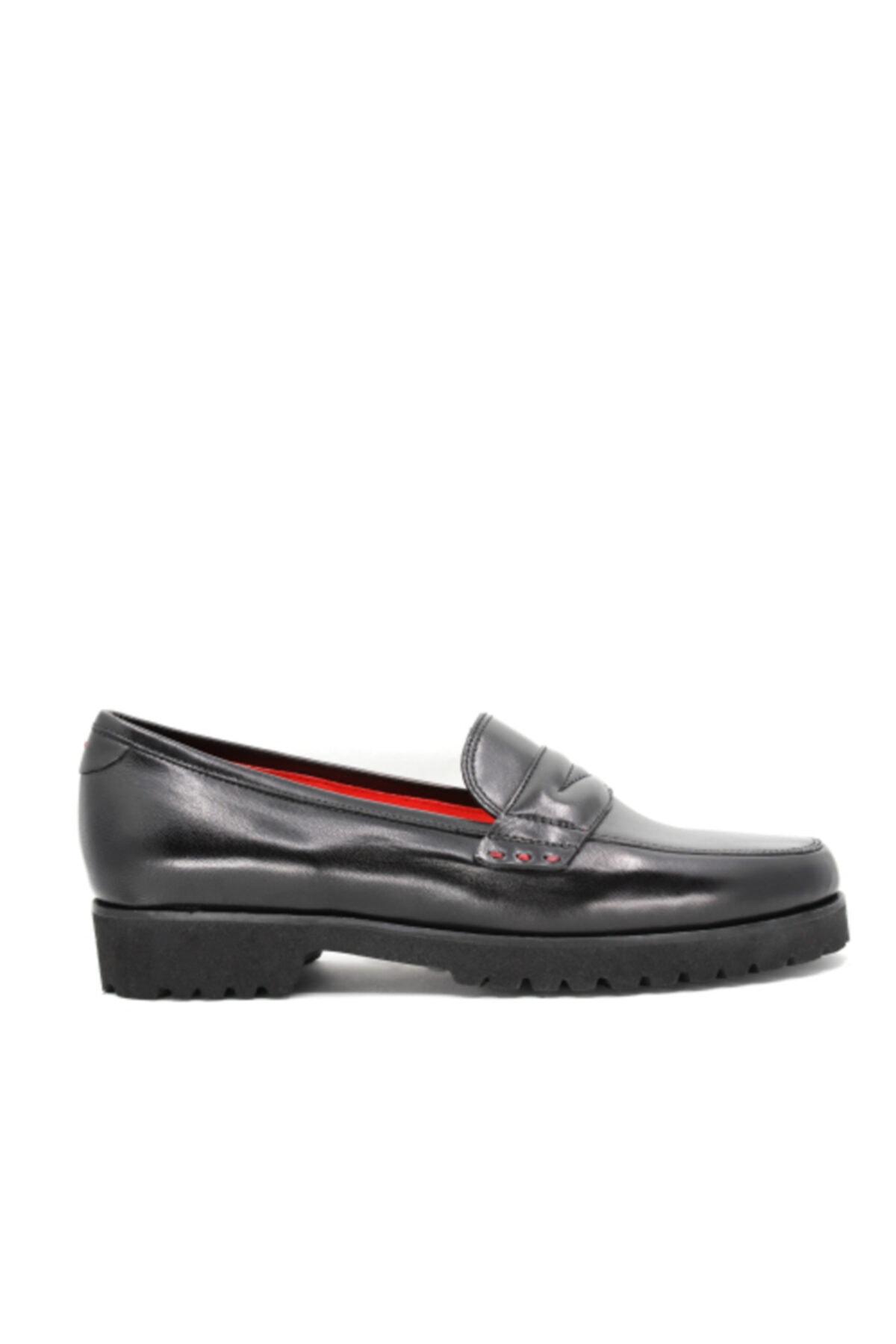 Gritti Kadın Siyah Deri Loafer Ayakkabı 1486