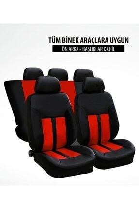 TUNINGMONSTER Hon Spor Şeritli Arka Kılıf Dahil Oto Koltuk Kılıfı Set Numaramatik Parktel Hediye 2