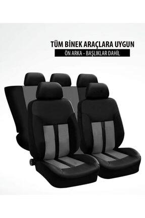TUNINGMONSTER Hon Spor Şeritli Arka Kılıf Dahil Oto Koltuk Kılıfı Set Numaramatik Parktel Hediye 3