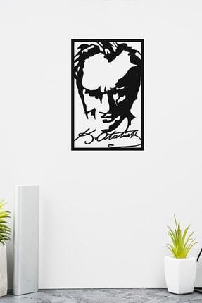 PAYİDARTS Imzalı Atatürk Portre Dekoratif Lazer Kesim Metal Duvar Tablo 45x70cm 1