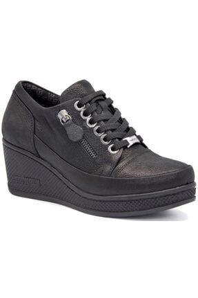 Kadın Siyah Simli Ayakkabı 100021K625