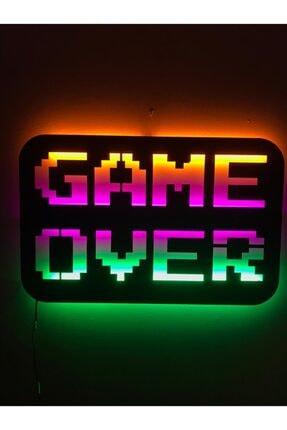 dekoraven Game Over Led Işıklı Tablo 0