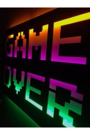 dekoraven Game Over Led Işıklı Tablo 4