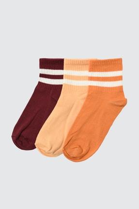 TRENDYOLMİLLA Kiremit 3'lü Paket Örme Çorap TWOAW20CO0054 0