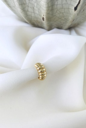MaidCo Accessories Kadın Gold Burgu Dokulu Kıkırdak Küpe Kp1060 0