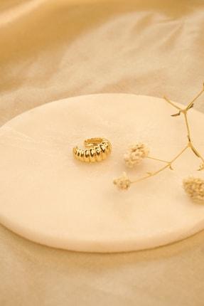 MaidCo Accessories Kadın Gold Burgu Dokulu Kıkırdak Küpe Kp1060 2