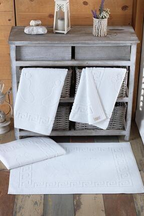 Varol Beyaz 4 Adet Talia Serisi Ayak Havlusu 50x70 200 gr 0