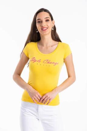 Mossta Kadın Sarı Sırt Dekolteli Body 2