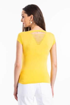 Mossta Kadın Sarı Sırt Dekolteli Body 3