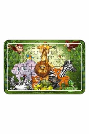 Baskı Atölyesi Sevimli Hayvanlar A4 54 Parça Ahşap Puzzle 0