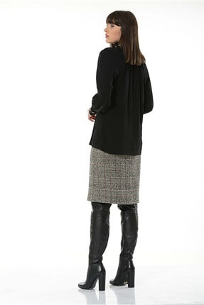 BİRELİN Kadın Siyah Bluz 2