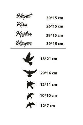 Hellove Hayat Kısa Kuşlar Uçuyor Duvar Dekoru Mdf Tablo Duvar Süsü Ahşap 2