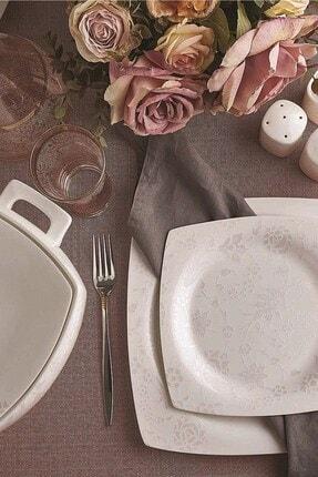 KORKMAZ Bone Sel 60 Parça Kare Yemek Takımı 0