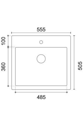 Vıvıano     1 Göz 51x56 Cm Beyaz Granit Evye 1