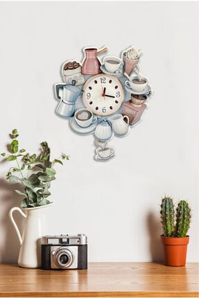 Sokaktaki Hediyem Kahve Deryası Sallanır Sarkaçlı Mutfak Duvar Saati 0