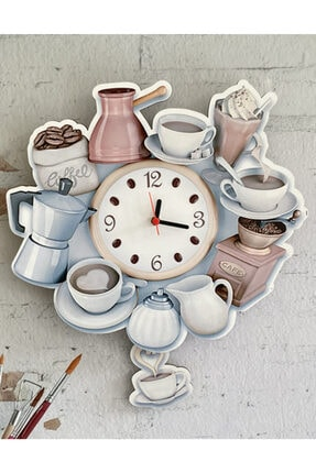 Sokaktaki Hediyem Kahve Deryası Sallanır Sarkaçlı Mutfak Duvar Saati 2