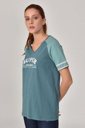 bilcee Turkuaz Kadın T-Shirt GS-8616 3