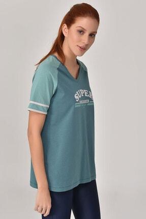 bilcee Turkuaz Kadın T-Shirt GS-8616 4