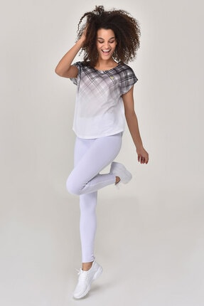 bilcee Beyaz Kadın T-shirt  GS-8032 1