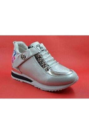Guja Kadın Gümüş Gizli Dolgu Topuk Spor Ayakkabı 40 18k337 0