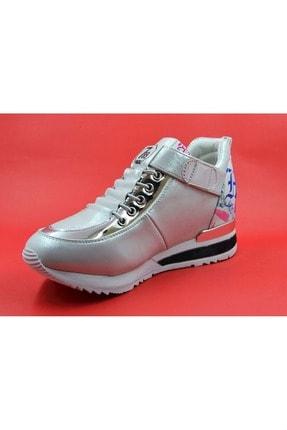 Guja Kadın Gümüş Gizli Dolgu Topuk Spor Ayakkabı 40 18k337 1