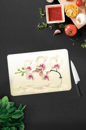 Decorita Krem Orkide Desen | Cam Kesme Tahtası - Cam Kesme Tablası | 30cm x 40cm 0
