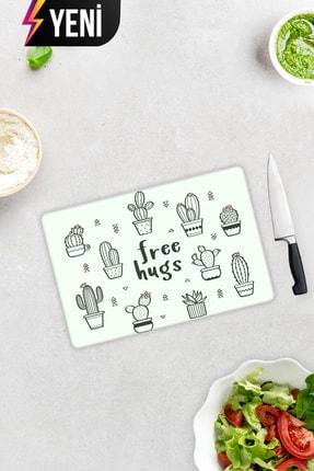Decorita Free Hugs | Cam Kesme Tahtası - Cam Kesme Tablası | 20cm x 30cm 1