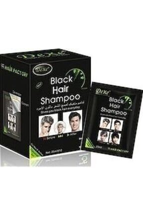 Dexe Black Haır Shampoo 25mlx10 Beyaz Saç Kapatıcı Siyah Boya 0