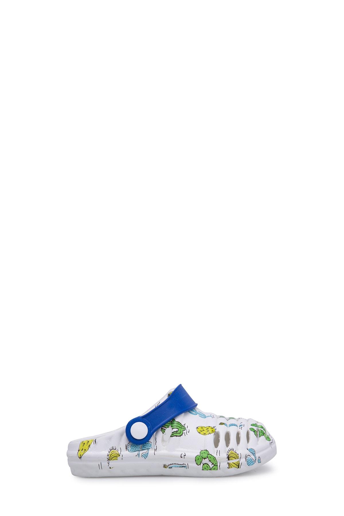 Unisex Çocuk Beyaz Mavi Sandalet E206P006