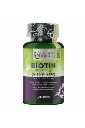 Natures Supreme Biotin 5000 Mcg 120 Kapsül 0