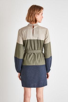 TRENDYOLMİLLA Çok Renkli Kuşaklı Elbise TWOAW21EL2074 4