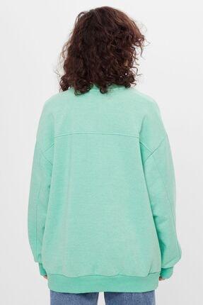 Bershka Kadın Yeşil Oversize Sweatshirt 1