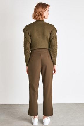 TRENDYOLMİLLA Haki Çıtçıtlı Pantolon TWOSS20PL0131 4